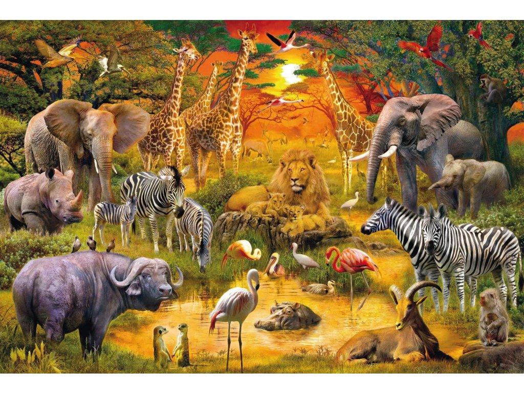 SCHMIDT Puzzle Africká zvířata 150 dílků