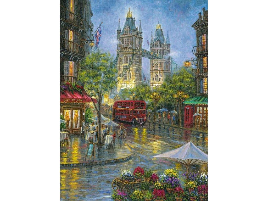RAVENSBURGER Puzzle Malebný Londýn 500 dílků
