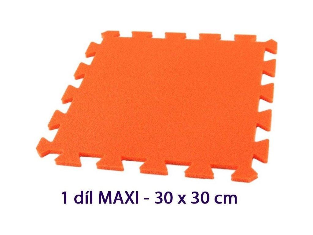 MALÝ GÉNIUS Samostatný díl MAXI 8mm (oranžový)