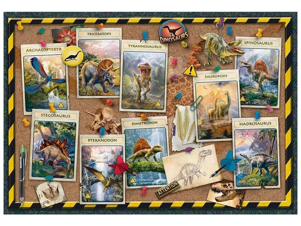 RAVENSBURGER Puzzle Sbírka dinosaurů XXL 100 dílků