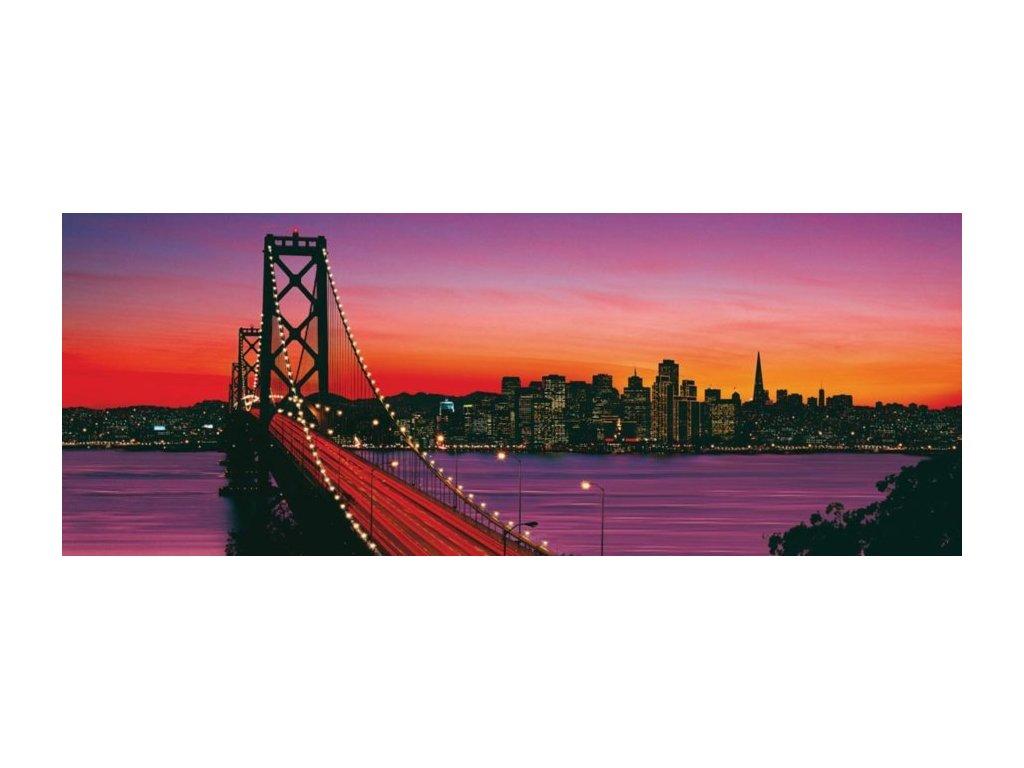 RAVENSBURGER Panoramatické puzzle Soumrak v San Franciscu 1000 dílků
