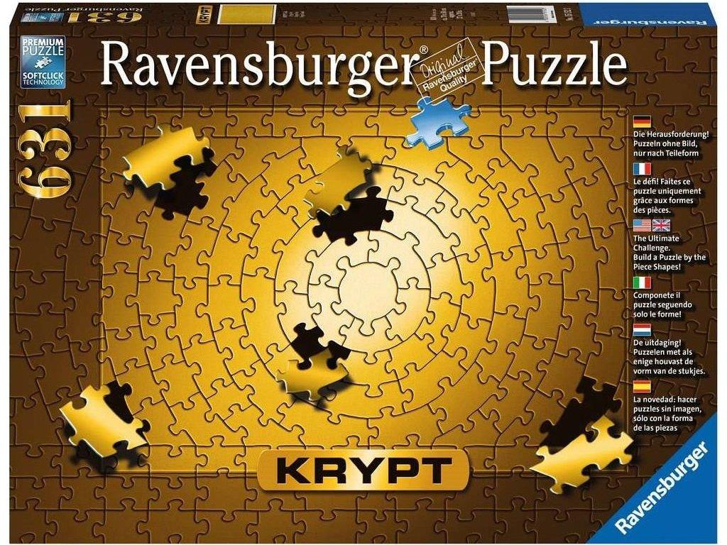 RAVENSBURGER Puzzle KRYPT (barva zlatá) 631 dílků