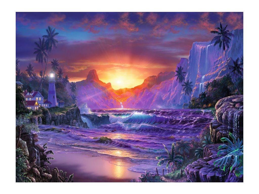RAVENSBURGER Puzzle Východ slunce v ráji 1500 dílků