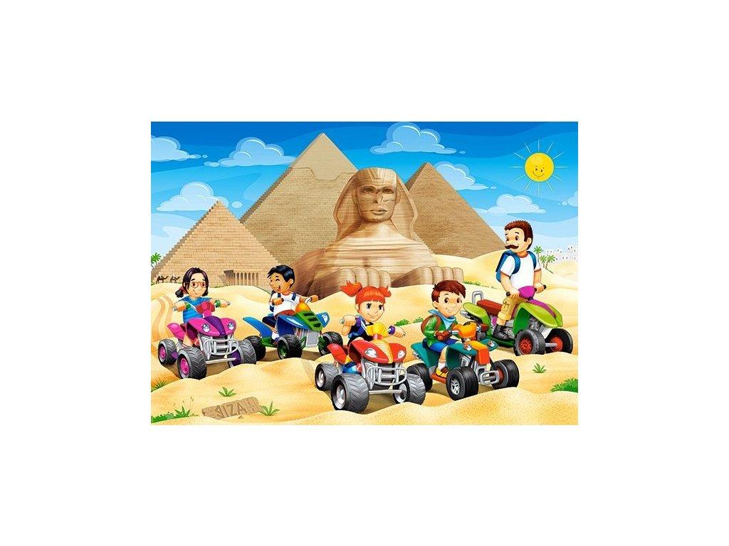 CASTORLAND Puzzle Na čtyřkolkách k pyramidám 60 dílků