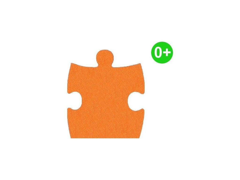MALÝ GÉNIUS Okrajový díl KLASIK A silný 0+ (oranžový)