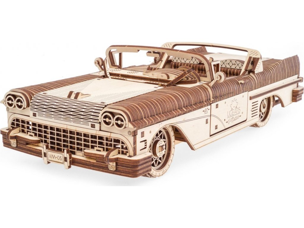 UGEARS 3D puzzle Dream Cabriolet VM-05, 735 dílků