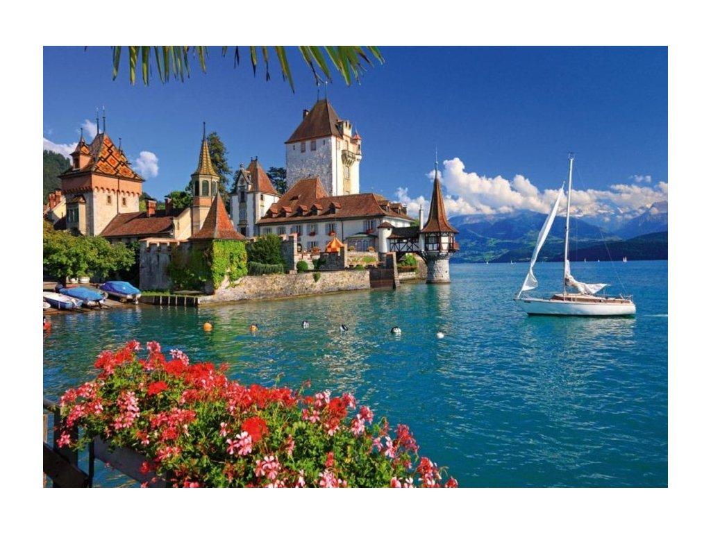 RAVENSBURGER Puzzle Jezero Thun, Bern 1000 dílků