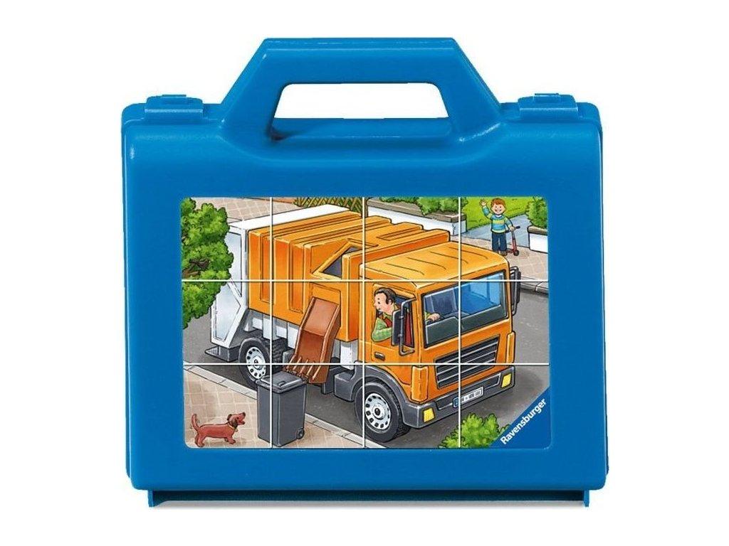 RAVENSBURGER Obrázkové kostky Oblíbené dopravní prostředky, 12 kostek