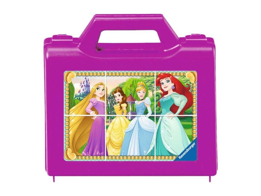 RAVENSBURGER Obrázkové kostky Disney princezny, 6 kostek