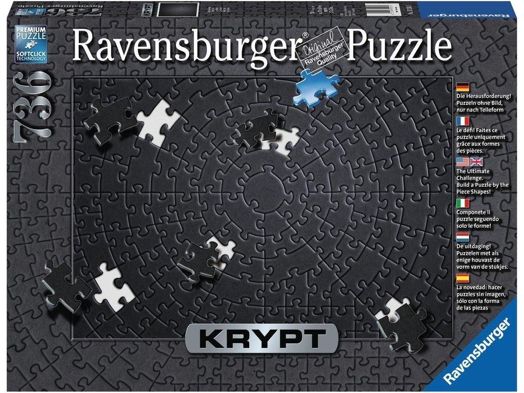RAVENSBURGER Puzzle KRYPT (barva černá) 736 dílků