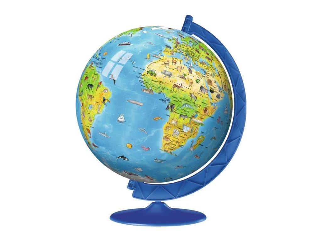 RAVENSBURGER Puzzleball Dětský globus se zvířátky (anglický) 180 dílků