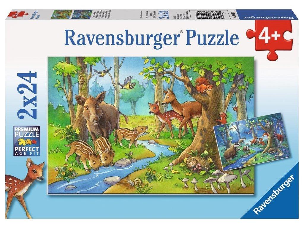 RAVENSBURGER Puzzle Zvířátka v lese 2x24 dílků