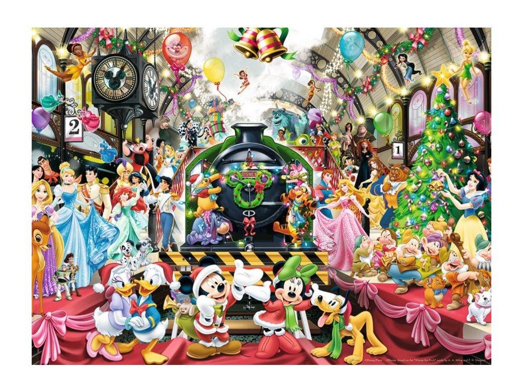 RAVENSBURGER Puzzle Vánoční vlak Disney 500 dílků