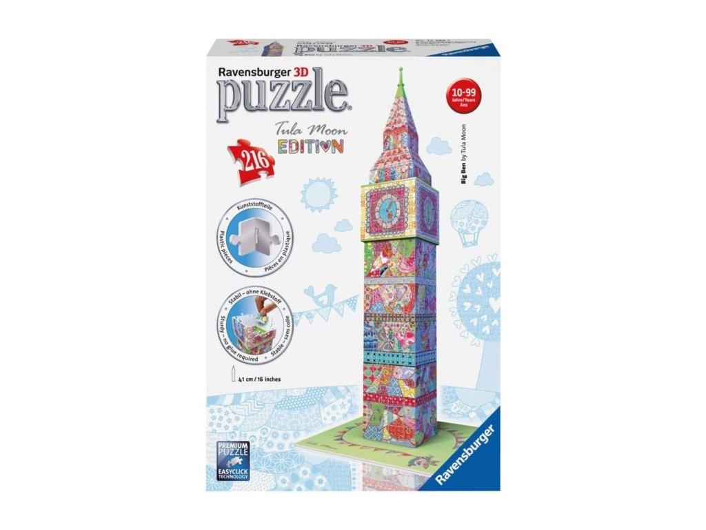RAVENSBURGER 3D puzzle Big Ben (Tula Moon) 216 dílků