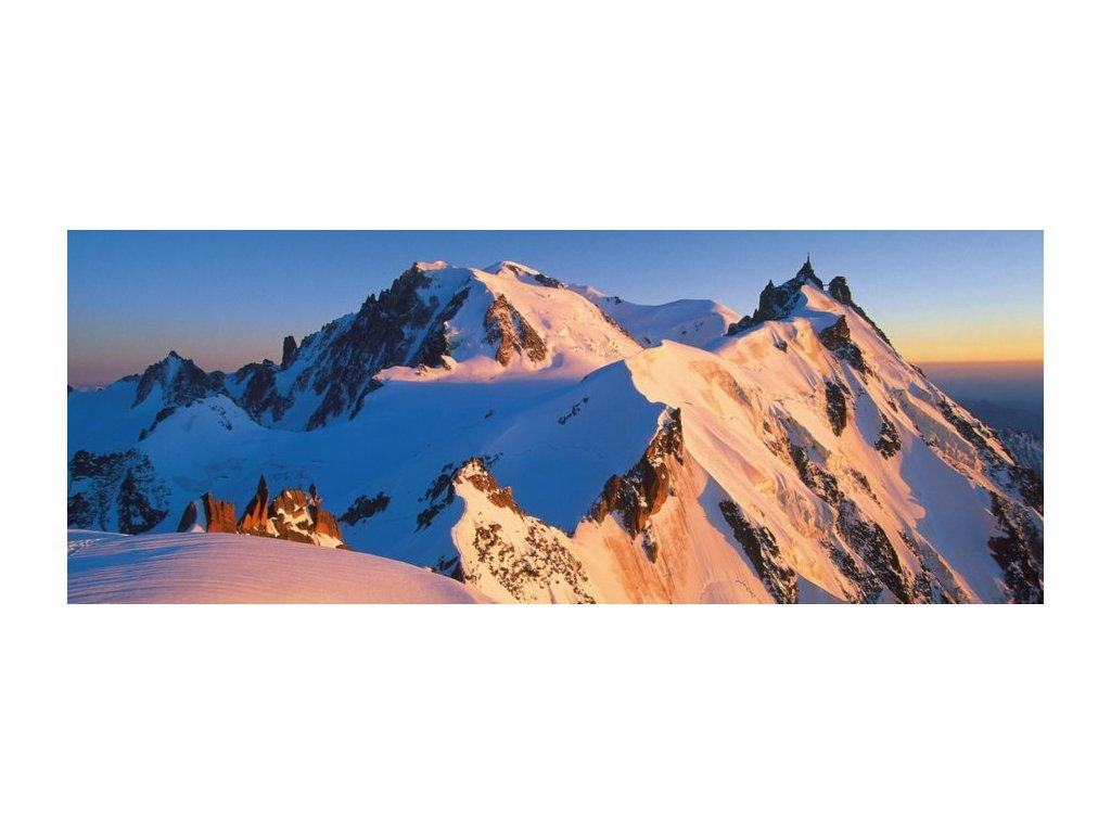 RAVENSBURGER Panoramatické puzzle Mont Blanc, Alpy 1000 dílků