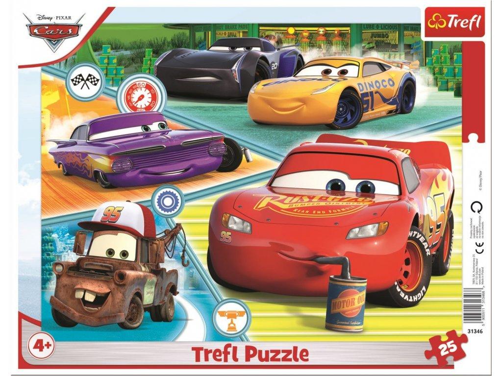 TREFL Puzzle Auta (Cars 3): Dobrý tým 25 dílků