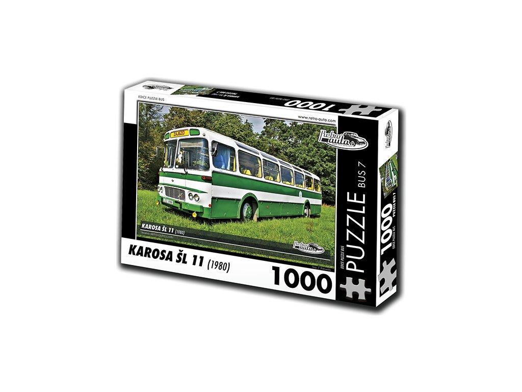 RETRO-AUTA Puzzle BUS č. 7 Karosa ŠL 11 (1980) 1000 dílků
