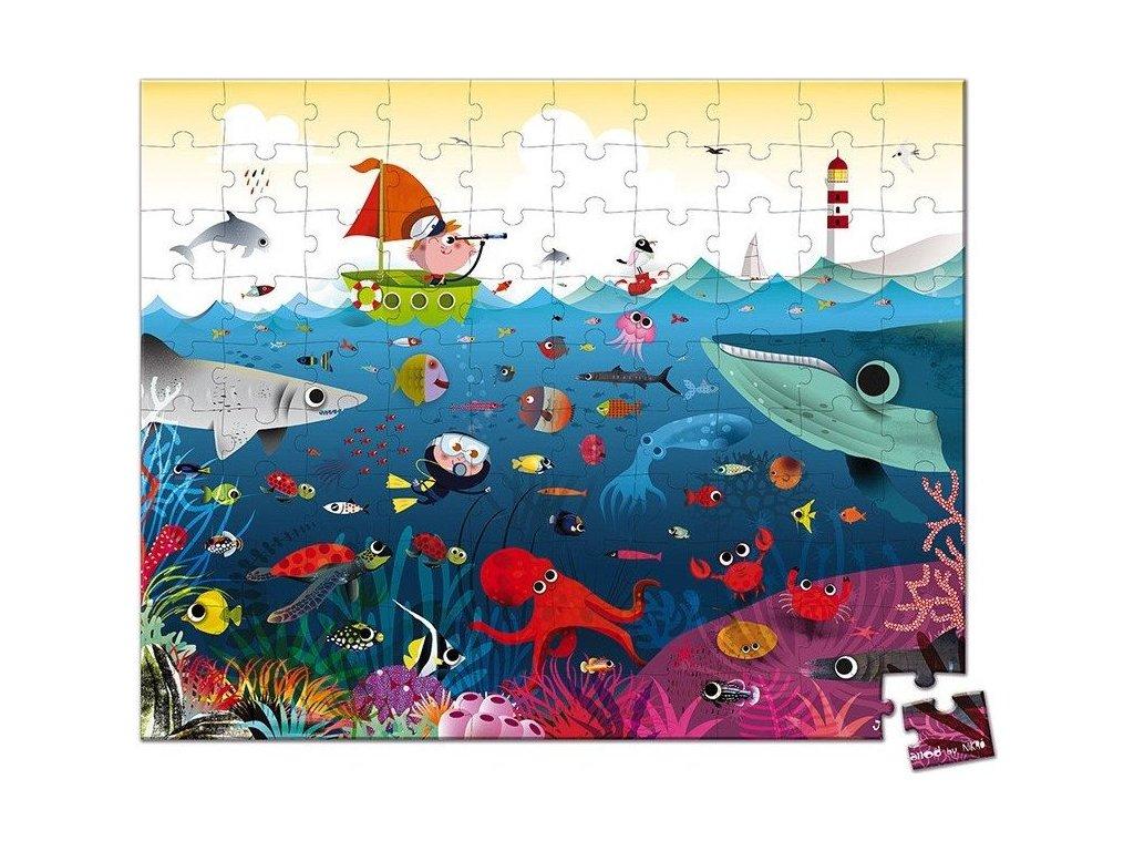 JANOD Puzzle v kufříku Pod mořskou hladinou 100 dílků