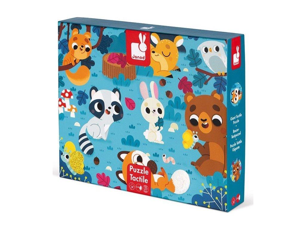 JANOD Hmatové puzzle Lesní zvířátka 20 dílků