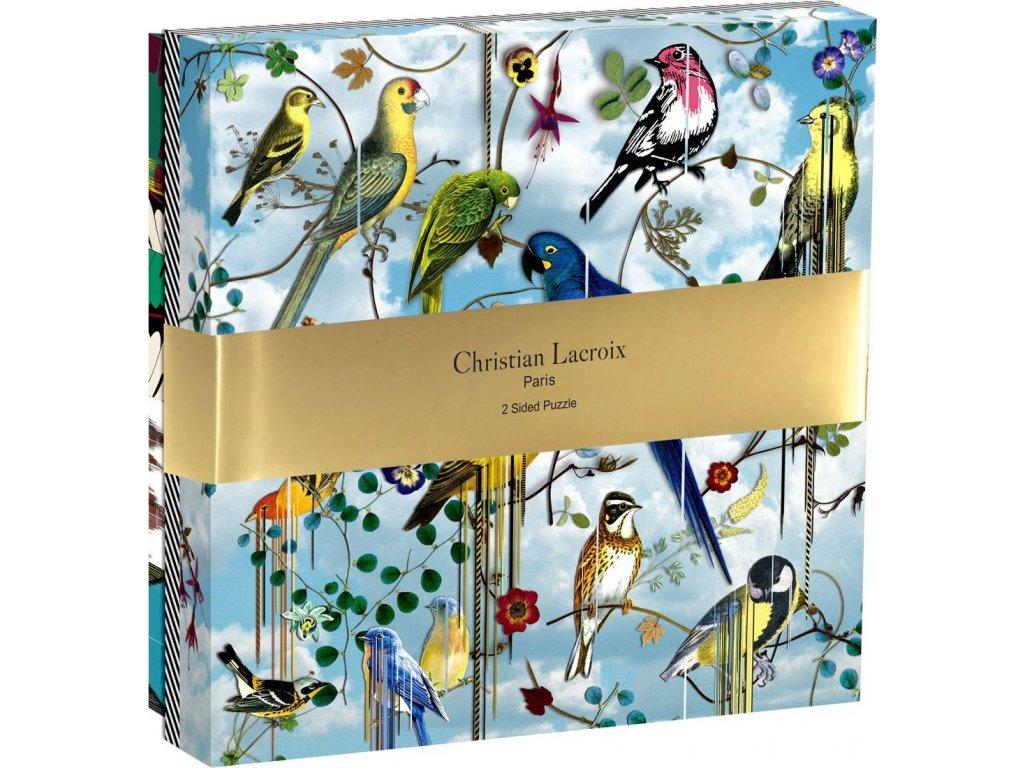 GALISON Oboustranné puzzle Christian LaCroix: Ptačí symfonie 250 dílků
