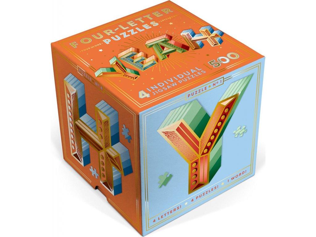 KNOCK KNOCK Metalické tvarové puzzle YEAH 500 dílků