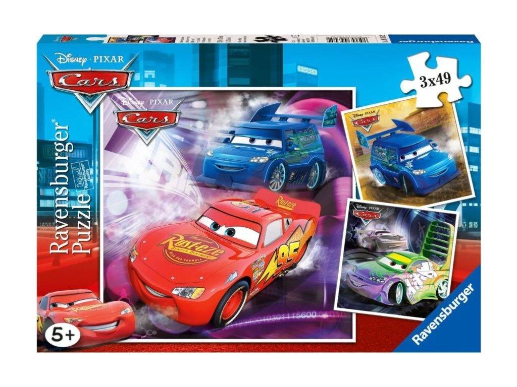 RAVENSBURGER Puzzle Auta: Na závodní dráze 3x49 dílků