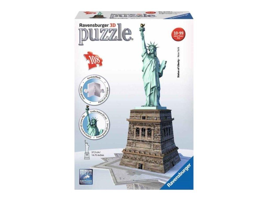 RAVENSBURGER 3D puzzle Socha Svobody, New York 118 dílků