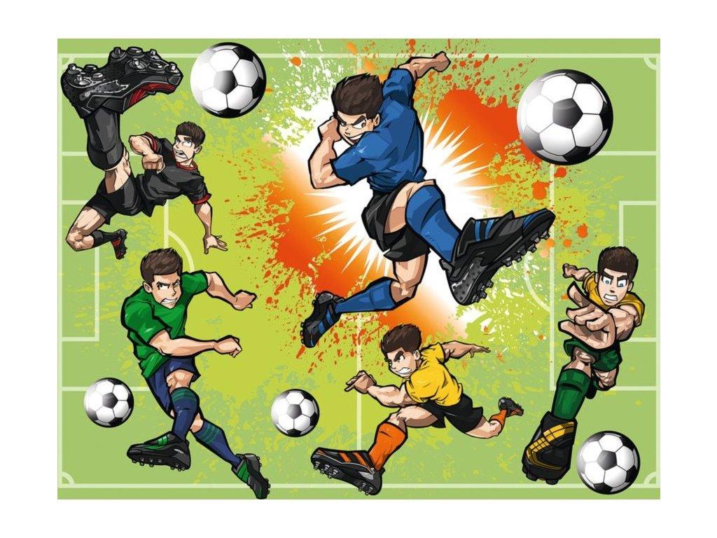 RAVENSBURGER Puzzle Fotbalová horečka XXL 100 dílků