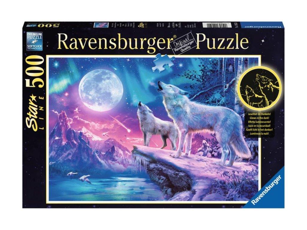 RAVENSBURGER Svítící puzzle Vytí za soumraku 500 dílků