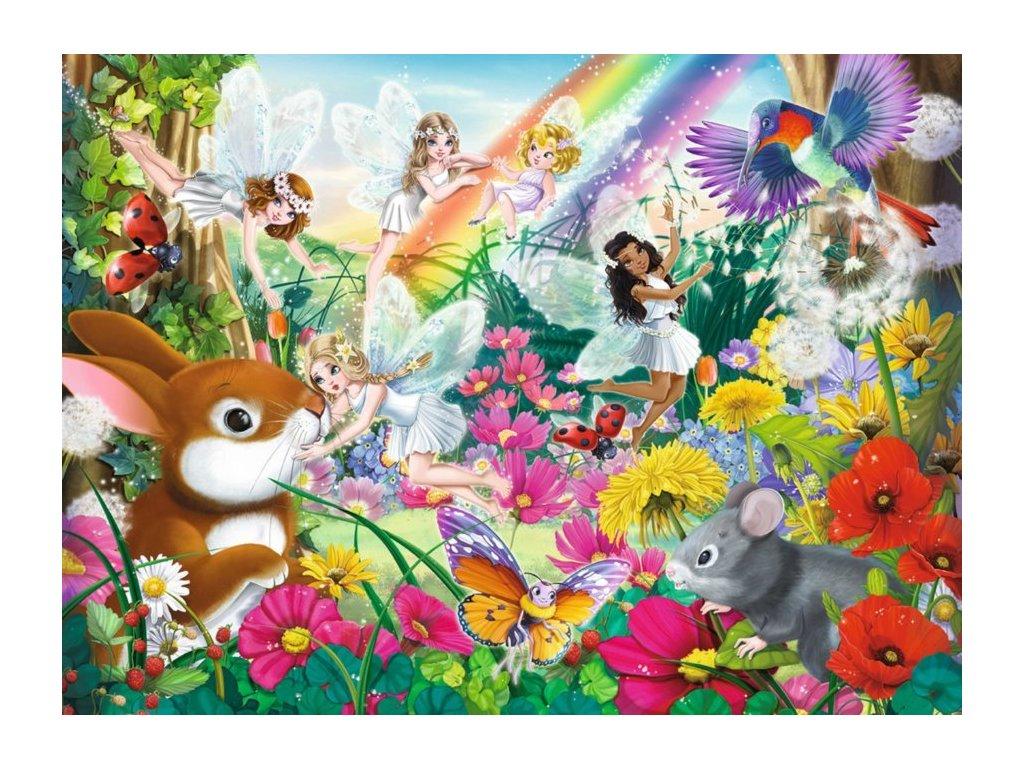 RAVENSBURGER Puzzle Magický vílí les XXL 150 dílků
