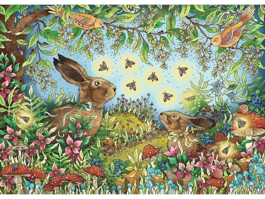 RAVENSBURGER Puzzle Noční magie lesa 1000 dílků