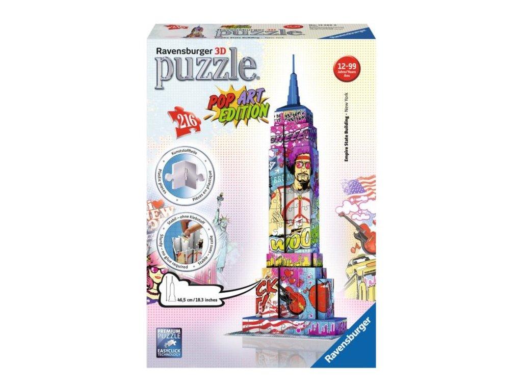 RAVENSBURGER 3D puzzle Empire State Building (Pop Art) 216 dílků