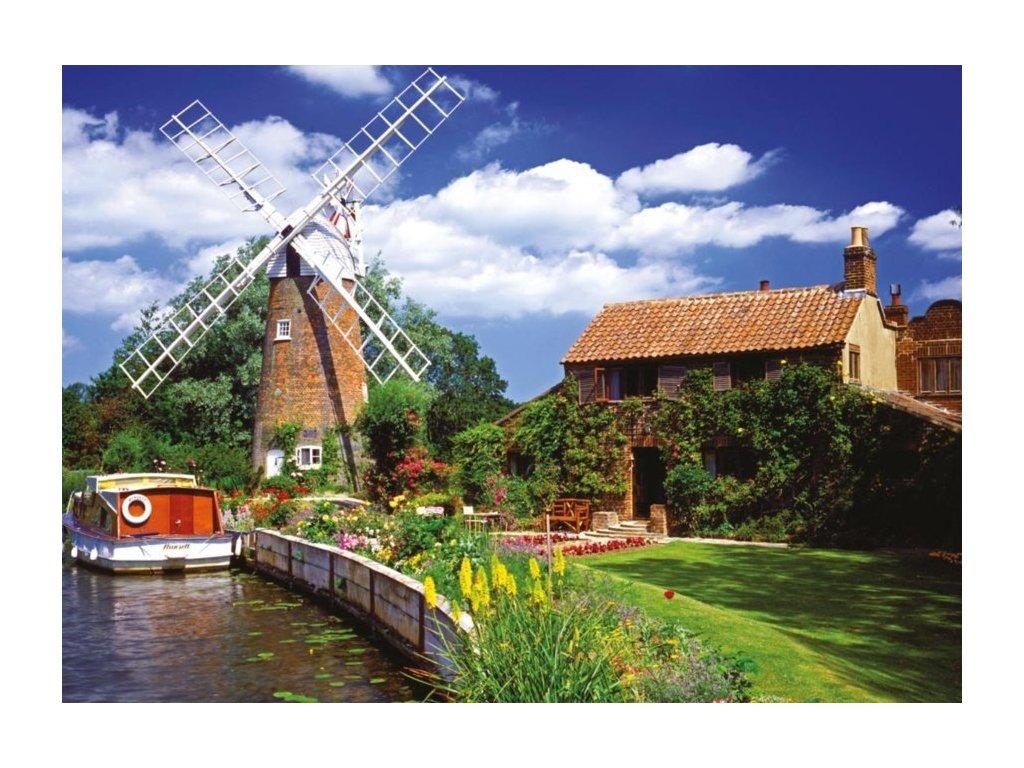 RAVENSBURGER Puzzle Větrný mlýn na venkově 1000 dílků