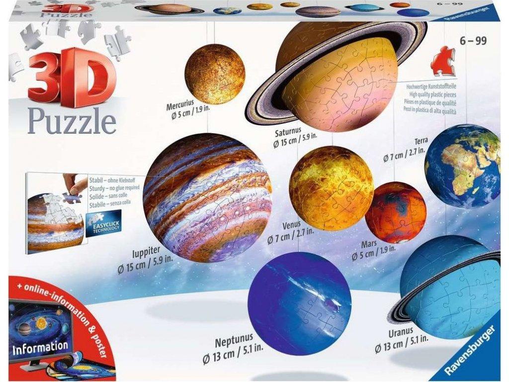 RAVENSBURGER Puzzleball sada Sluneční soustava 540 dílků