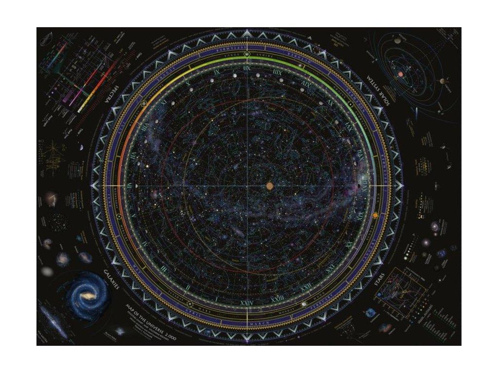 RAVENSBURGER Puzzle Mapa vesmíru 1500 dílků