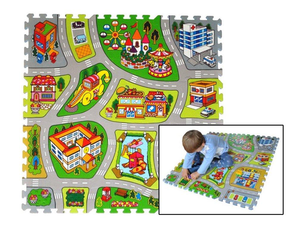 LC Pěnové puzzle Město
