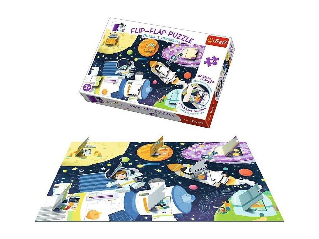 TREFL Okénkové puzzle Vesmír 36 dílků