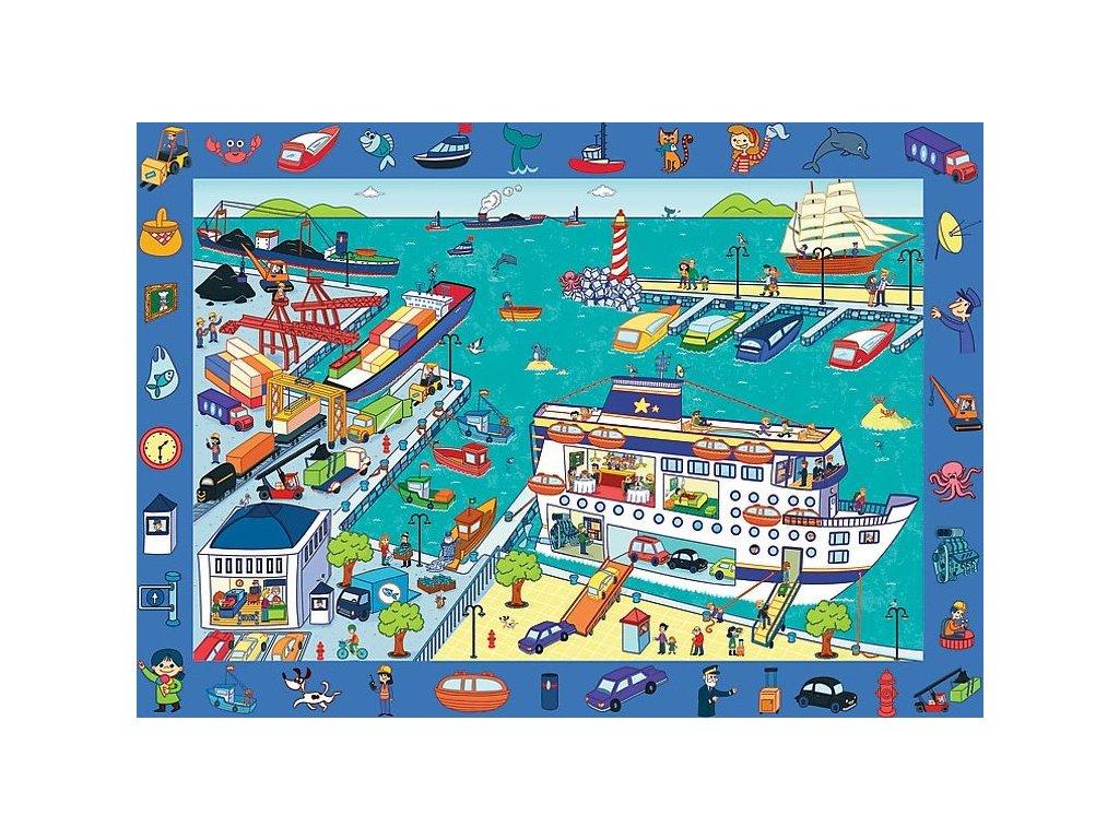 TREFL Puzzle s hledáním obrázků Přístav 70 dílků