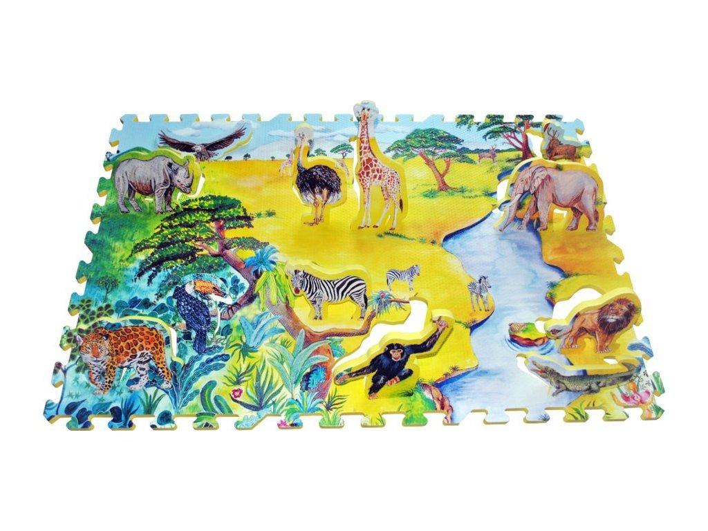 LC Pěnové puzzle s vkládačkou Afrika 2v1