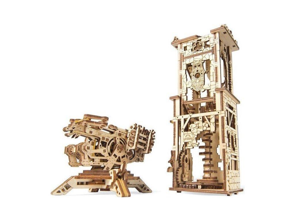 UGEARS 3D puzzle Archbalista a věž 292 dílků