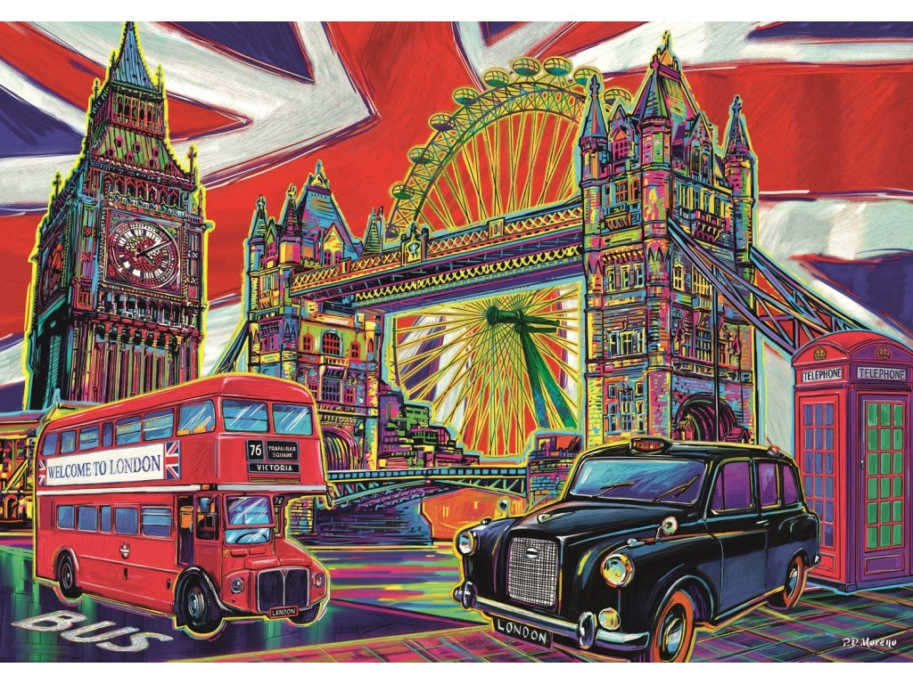 TREFL Puzzle Barvy Londýna 1000 dílků