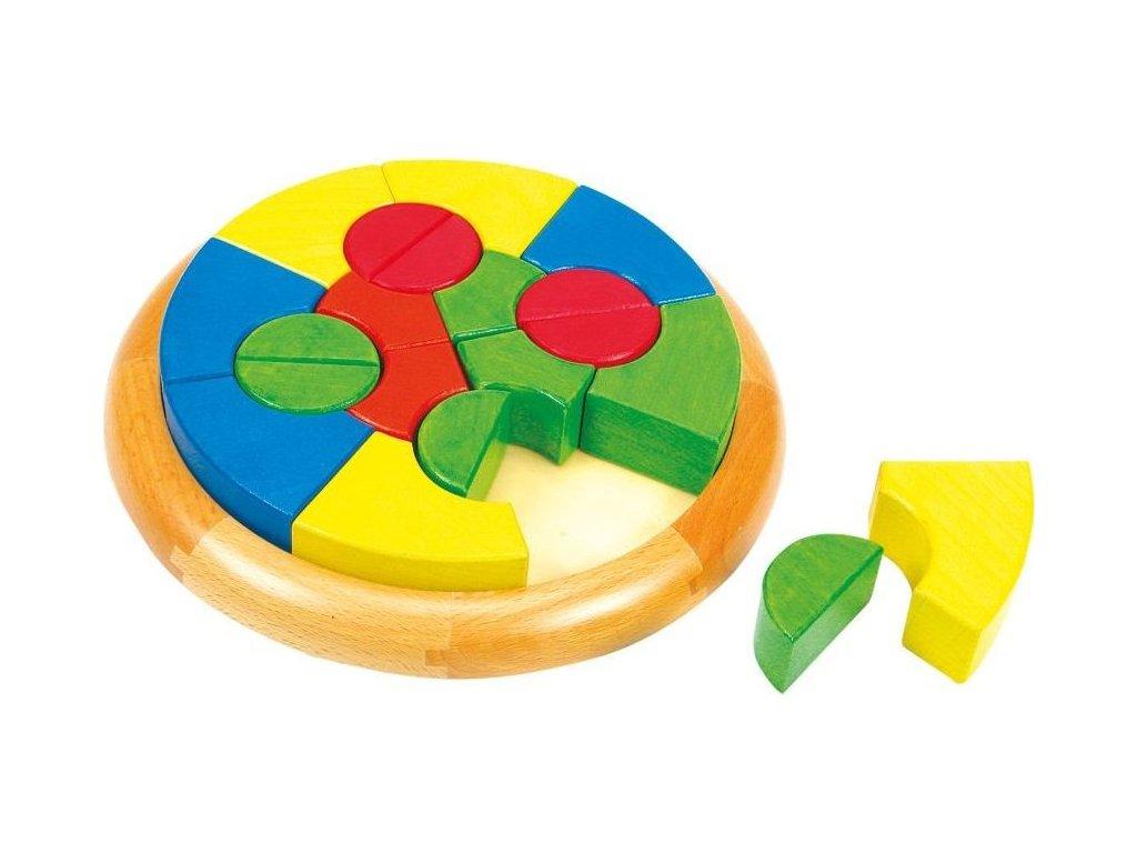 MERTENS Dřevěné vkládací puzzle Kruh (Rondo Formen)