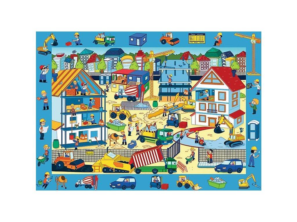 TREFL Puzzle s hledáním obrázků Staveniště 70 dílků