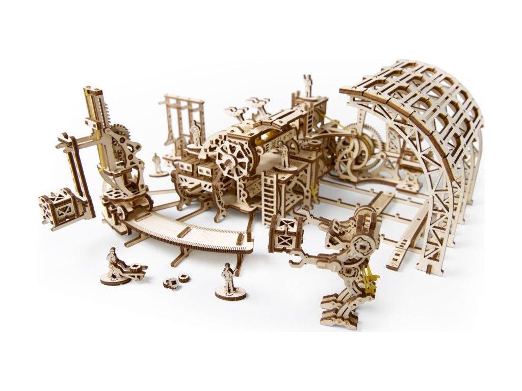 UGEARS 3D puzzle Továrna na roboty 598 dílků