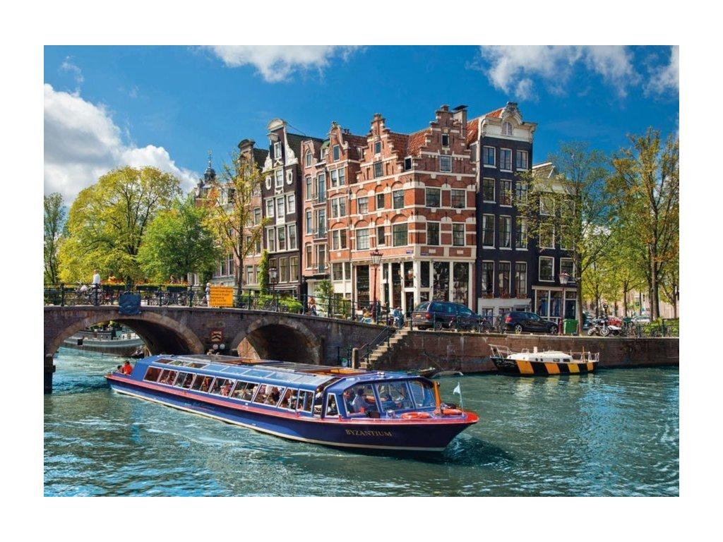 RAVENSBURGER Puzzle Plavba po kanálu v Amsterdamu 1000 dílků