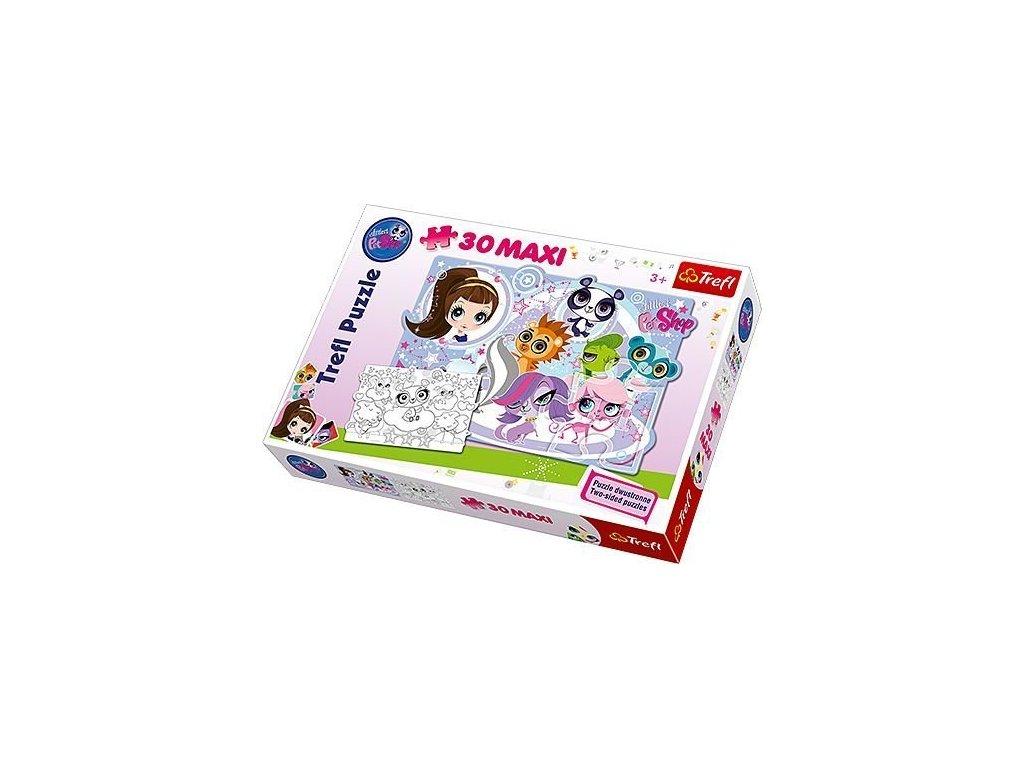 TREFL Oboustranné puzzle Littlest Pet Shop MAXI 30 dílků