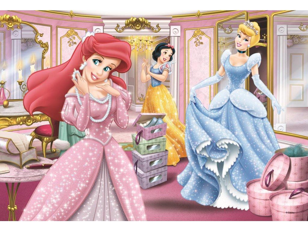 TREFL Puzzle Disney princezny: Příprava na ples 100 dílků