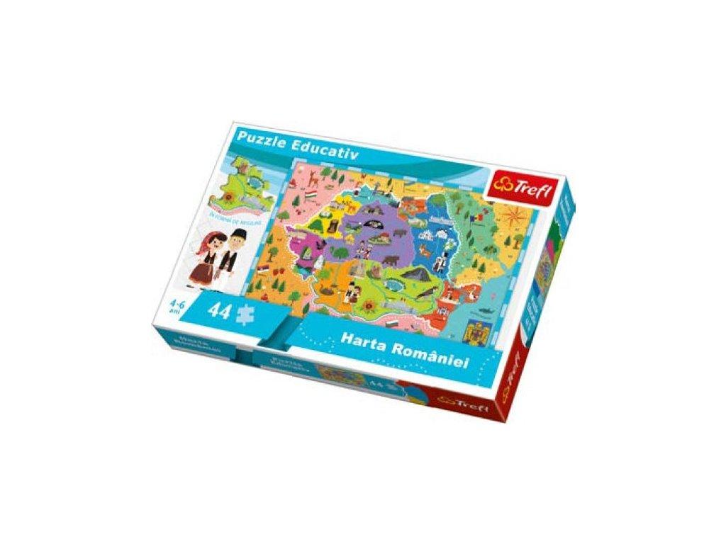 TREFL Puzzle Mapa Rumunska 44 dílků