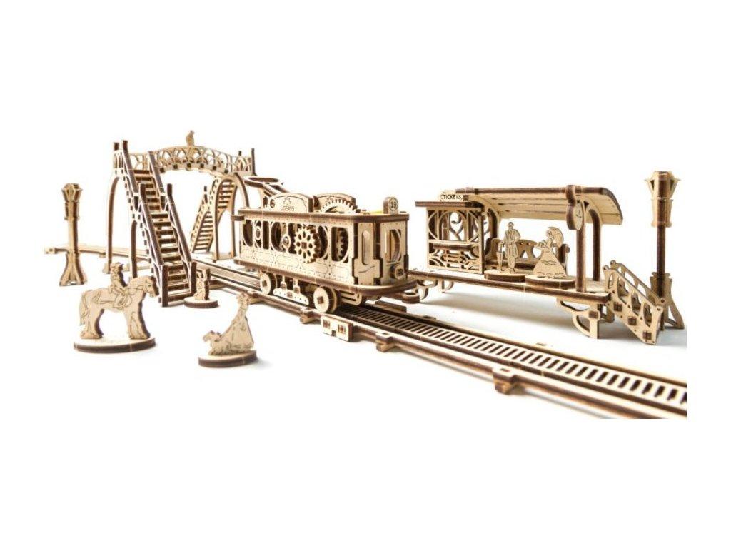 UGEARS 3D puzzle Tramvajová linka 284 dílků