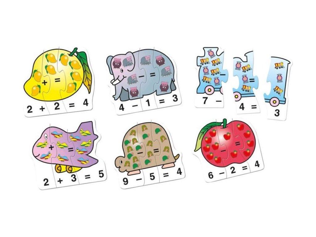 BINO Obrysové puzzle Počítání 60 dílků